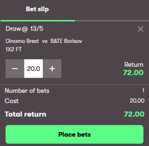How to place a bet at 10bet?