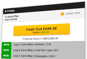 The Cash-out function at Betfair