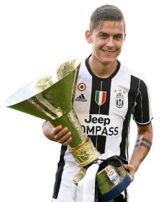 Dybala holding Serie A Trophy