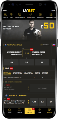 LVBet mobile betting app