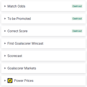 Popular Football Bets at Paddy Power